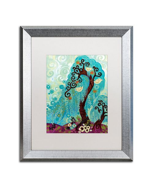 "Trademark Global Natasha Wescoat 'Spritely Blue Willows' Matted Framed Art - 16"" x 20"""