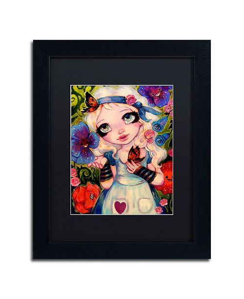 "Trademark Global Natasha Wescoat 'The Talking Flowers' Matted Framed Art - 11"" x 14"""
