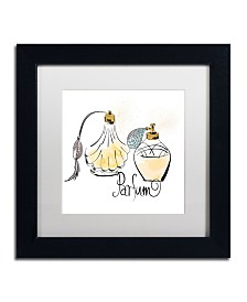 "Lisa Powell Braun 'Perfume Bottles' Matted Framed Art - 11"" x 11"""