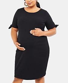 Motherhood Maternity Plus Size Elbow-Sleeve Dress