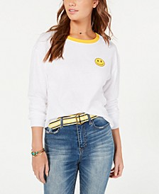 Juniors' Cotton Smiley Top