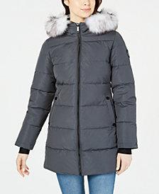 Halifax Hooded Faux-Fur-Trim Puffer Coat