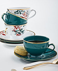 Martha Stewart Collection Royal Blush 8-Pc. Tea Cup and Saucer Set, Service for 4, Created for Macy's