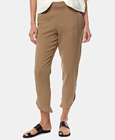 Juniors' Briggs Cotton Dolphin-Hem Pants