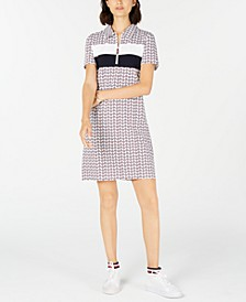 Colorblocked Printed Polo Dress