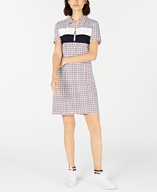 Tommy Hilfiger Colorblocked Printed Polo Dress