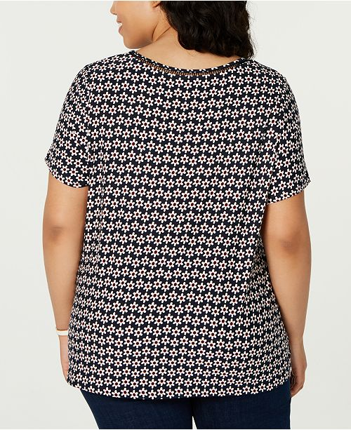 37498342 ... Tommy Hilfiger Plus Size Daisy-Print Top, Created for Macy's ...