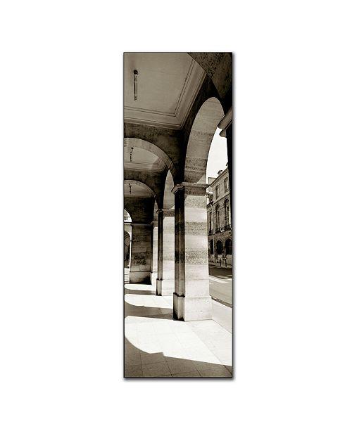 "Trademark Global Parisian Archway' by Preston Canvas Art - 24"" x 8"""