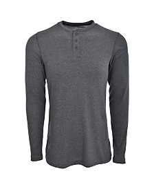 Hanes Men's Big and Tall Sueded Mini Waffle Henley