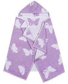 Linum Kids 100% Turkish Aegean Cotton Hooded Easy Bath and Beach Wrap for Girls
