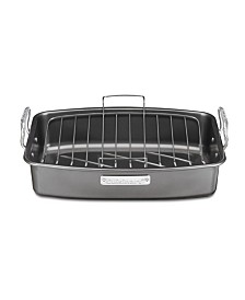 "Cuisinart Aluminized Steel 17"" x 13"" Nonstick Roaster with V-Rack"