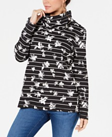 Karen Scott Printed Funnel-Neck Top, Created for Macy's