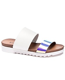 Dirty Laundry Cant Stop Flat Slide Sandals