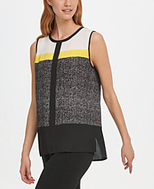 DKNY Colorblocked Top