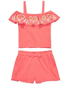 Big Girls 2-Pc. Smocked Top & Shorts Set, Created for Macy's