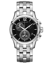 Men's Swiss Automatic Chronograph Jazzmaster Stainless Steel Bracelet Watch 42mm