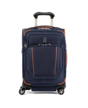 """Travelpro Crew Versapack 20"""" Global Softside Carry-on Spinner In Patriot Blue"""