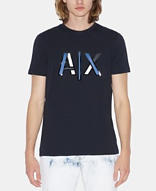 A|X Armani Exchange Men's Pieced Blocked Logo T-Shirt