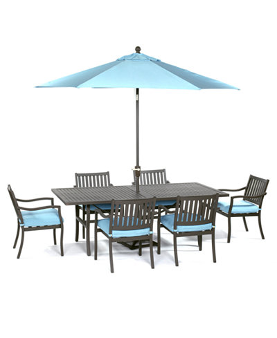 CLOSEOUT Holden Outdoor Aluminum Pc Dining Set  X - Aluminum dining table
