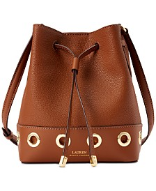 Lauren Ralph Lauren Mini Debby Grommet Leather Drawstring