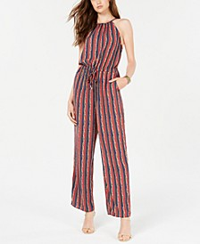 Juniors' Halter Jumpsuit