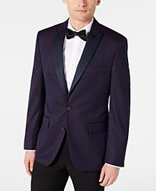 Men's Modern-Fit Burgundy Paisley Jacquard Dinner Jacket, Created for Macy's
