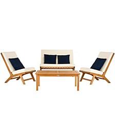 Chaston 4pc Living Room Pillow Sets, White