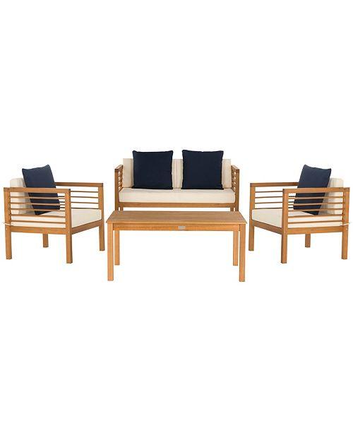 Safavieh Alda 4pc Outdoor Set & Reviews - Furniture - Macy's on Safavieh Alda 4Pc Outdoor Set id=27364