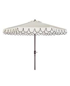 Elegant Valance 9' Auto Tilt Umbrella, Quick Ship