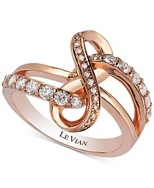 Le Vian® Vanilla Diamonds® Swirl Statement Ring (1/2 ct. t.w.) in 14k Rose Gold