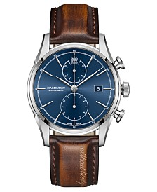 Hamilton Men's Swiss Automatic Spirit Of Liberty Brown Leather Strap Watch 42mm