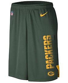 Nike Men's Green Bay Packers Player Knit Breathe Shorts