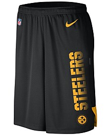 Nike Men's Pittsburgh Steelers Player Knit Breathe Shorts