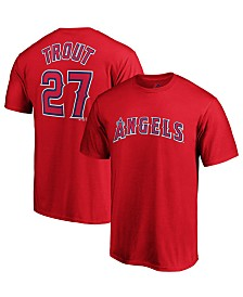 Majestic Men's Mike Trout Los Angeles Angels Official Player T-Shirt