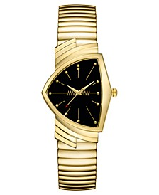 Unisex Swiss Ventura Gold-Tone Stainless Steel Bracelet Watch 32.3x50.3mm