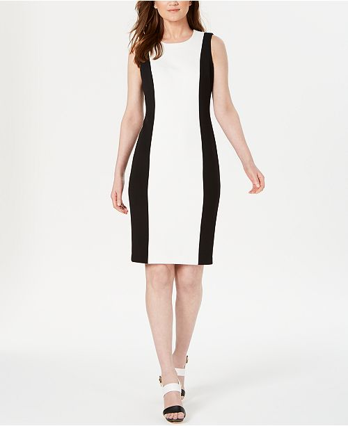 Calvin Klein Colorblocked Sheath Dress