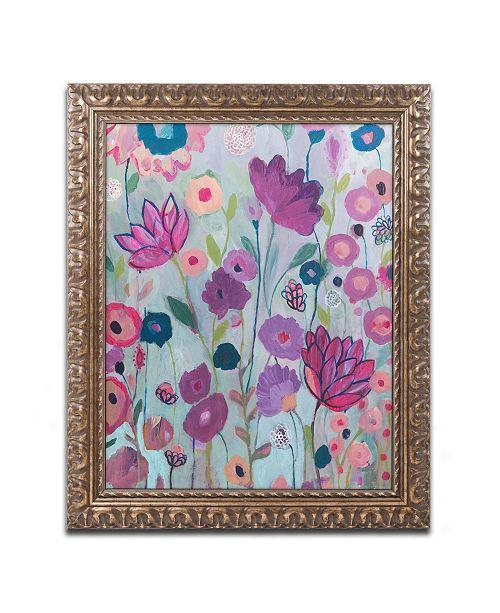 """Trademark Global Carrie Schmitt 'Lilac' Ornate Framed Art - 11"""" x 14"""""""