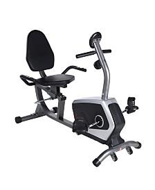 Sunny Health and Fitness Easy Adjustable Seat Recumbent Bike