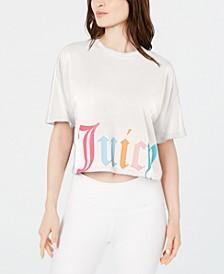 Cropped Logo-Print T-Shirt