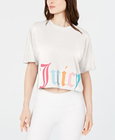 Juicy Couture Cropped Logo-Print T-Shirt
