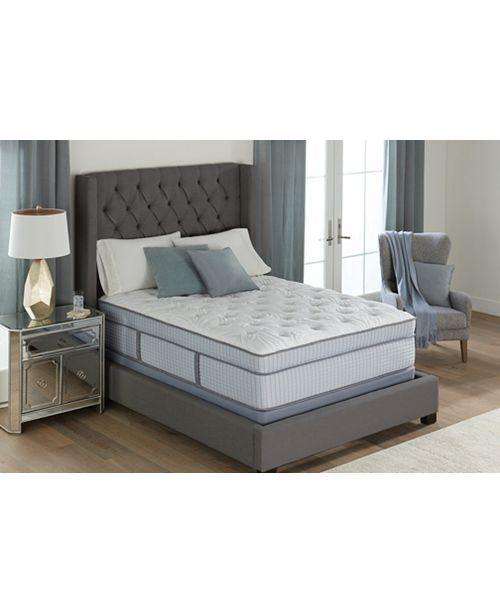Twin Bed Mattress.Cascade 14 5 Plush Euro Pillow Top Mattress Twin Xl