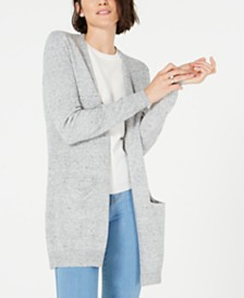 Maison Jules Cotton Open-Front Cardigan, Created for Macy's