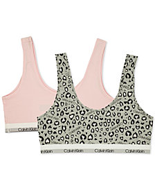 Calvin Klein Big Girls 2-Pk. Bralettes