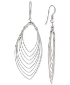 Giani Bernini Orbital Cut-Out Teardrop Earrings in Sterling Silver, Created for Macy's