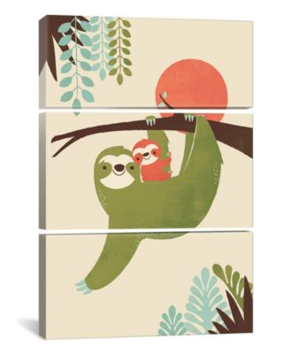 "Mama Sloth by Jay Fleck Gallery-Wrapped Canvas Print - 60"" x 40"" x 1.5"""