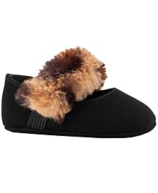 Baby Girl Nubuck Skimmer with Faux Fur