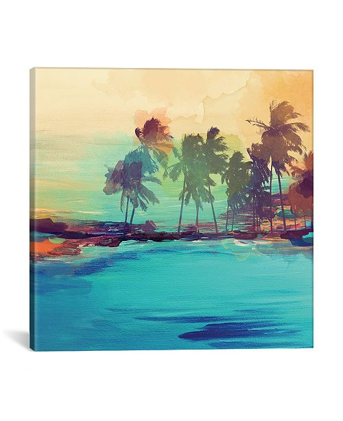 "iCanvas Palm Island I by Irena Orlov Gallery-Wrapped Canvas Print - 37"" x 37"" x 0.75"""