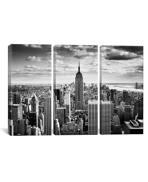 """iCanvas Nyc Downtown by Nina Papiorek Gallery-Wrapped Canvas Print - 40"""" x 60"""" x 1.5"""""""