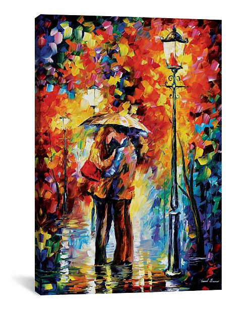 "iCanvas Kiss Under The Rain by Leonid Afremov Gallery-Wrapped Canvas Print - 26"" x 18"" x 0.75"""