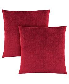 "Monarch Specialties 18"" x 18"" Mosaic Velvet Pillow, Set Of 2"